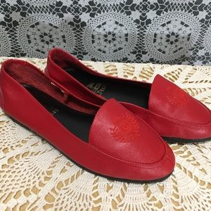 Vintage Gitano red leather flats 7